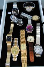 Vintage Lot of 10 Mens Wristwatches Timex Elgin & Seiko