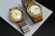 Lot of 2 Running Vintage Timex Automatic Mens Watches