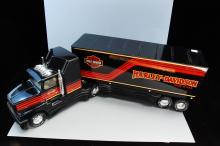 Vintage Nylint Harley Davidson Semi Truck & Traile