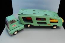 Vintage Tonka Pressed Steel Semi Truck Car Hauler
