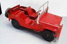 1950s Louis Marx Pressed Steel Jeep Willys Metal T
