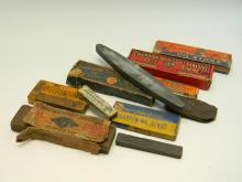 Antique Collection Of Knife Sharpening Stones