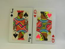 Schlitz Malt Liquor Jack & Queen Playing Cards Beer Sign Lot