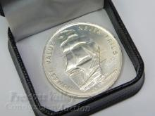 1973 U.S.S. Constitution Mint One Troy Ounce .999 Fine Silver Bullion Round