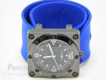 Collezio Captain Square Face Men's Wrist Watch on Silicone Band