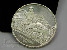 1973 World Mint Corp One Silverado Troy Ounce .999 Fine Silver Bullion Round