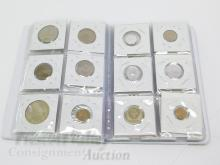 Lot of 30 Soviet and Foreign Coins in Coin Album