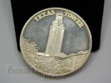 1976 University of Texas US Bicentennial One Troy Ounce .999 Fine Silver Bullion Round