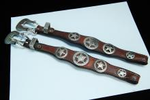 South Western Style Nickel Silver Belt Buckle Sets
