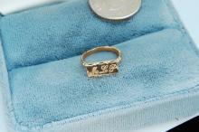 Vintage 10K Gold Monogramed Baby Ring