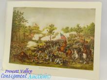 Battle of Atlanta Kurz & Allison Civil War Print