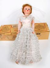 BETTY THE BEAUTIFUL BRIDE DOLL - Deluxe Premium Corp Grocery Store Doll. Vinyl arms and legs that bend and washable saran hair; simu...