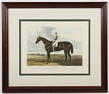 EQUESTRIAN LITHOGRAPH BY C.HUNT - Hand-colored lithograph on paper is titled