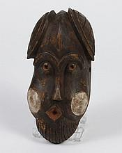 NIGERIAN CARVED WOOD IBIBIO MASK - Known as a