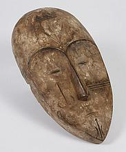 CARVED WOOD FANG MASK - From Gabon, Cameroon and Equatorial Guinea