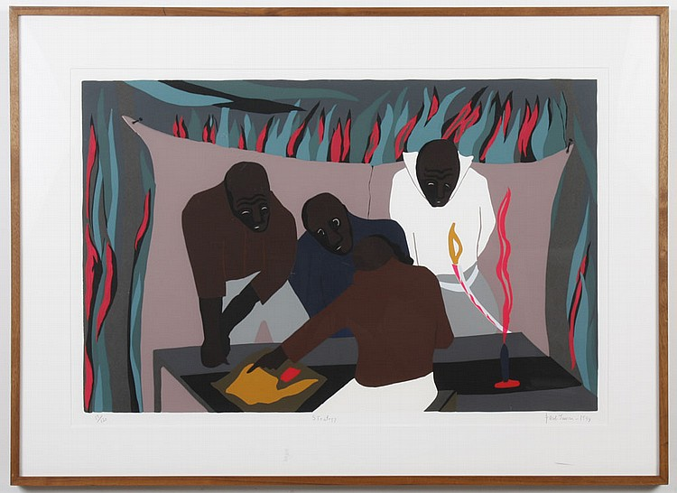 JACOB LAWRENCE (1917-2000, WA) SILKSCREEN ON PAPER - Signed, titled, dated 1994, and numbered 17/120 in pencil, lower margin. Titled...