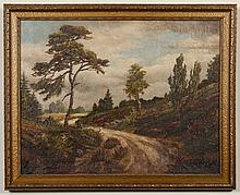 BENJAMIN BROWN (1865-1942, CA) OIL ON CANVAS - Signed at lower right: