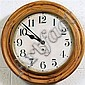 ADDED: WALL CLOCK - Antique American with spring-wound time movement by the Westbury Clock Company