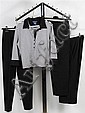 THREE PAIR PIAZZA SEMPIONE PANTS AND FACCONABLE STRIPED TEE - Black capris to include
