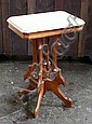 Eastlake walnut parlor lamp table