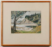 DOROTHY DOLPH JENSEN (1895-1977, WA) WATERCOLOR ON PAPER - Signed at lower right. Titled on reverse