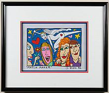 JAMES RIZZI (1950-2011, NY) MIXED-MEDIA ON PAPER - Signed, titled and dated at lower margin. Titled