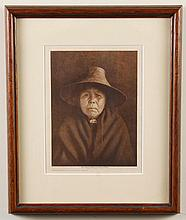 EDWARD CURTIS (1868-1952, WA) PHOTOGRAVURE ON PAPER - Titled