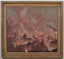 RUDOLPH HAYBROOK (1898-1965, United Kingdom) OIL ON CANVAS - Signed at upper right. Titled