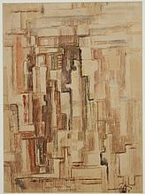 MARK TOBEY (1890-1976, WA) WATERCOLOR AND GOUACHE PAINTING - Painted on paper, signed and dated lower right