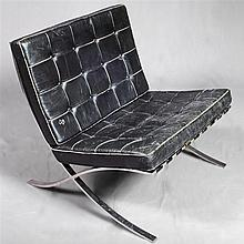 KNOLL FURNITURE: BARCELONA CHAIR - Originally designed by Ludwig Miles van der Rohe for the German Pavilion in the International Exp...