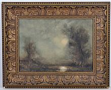 Attributed to JOHN REUBEN BACON (1866- , New York) WATERCOLOR WITH PASTEL ON PAPER - Pencil signed, lower right,