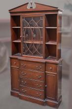 BREAKFRONT CABINET - Vintage American mahogany with colonial style