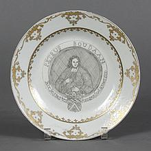CHINESE EXPORT-STYLE PORCELAIN PLATE PAINTED