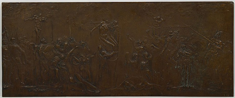 BRONZE BAS-RELIEF PLAQUE