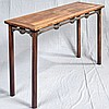 CHINESE ROSEWOOD ALTAR TABLE - Table with rectangular top, decorative skirting with