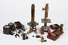 MICROSCOPES - From the Elli Buk Museum, lot includes Brass Objectives, Oculars and Pocket Microscopes, as well as a live observation...