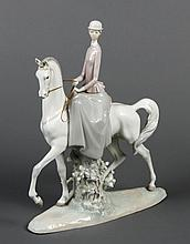 LLADRO FEMALE EQUESTRIAN- Lladro catalog title and number