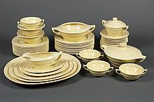 WEDGWOOD ETRURIA DINNER SERVICE - Fifty pieces comprising six 4-piece place settings plus extra pieces. Pattern is