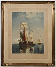 LITHOGRAPH OF SHIP - Lithograph on paper of large ship, after Paul-Jean Clays. Pencil signed at lower right.