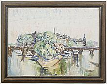 AMBROSE PATTERSON (1877-1967, WA) PAINTING - Signed at lower right and titled on reverse,