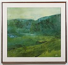 RICHARD KOZLOW (1926-2008, NY/MI) PAINTING - Signed oil on canvas, titled on reverse