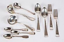 STERLING SILVER FLATWARE: ASSORTED - 10 pcs. All stamped