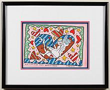 JAMES RIZZI (1950-2011, NY) MIXED-MEDIA ON PAPER - Signed, titled, dated, at lower margin. Entitled