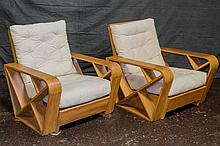 EN SUITE: PAIR OF ARMCHAIRS - Manufactured by the Blas Gonzales Furniture Factory