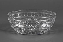 WATERFORD OVAL CRYSTAL BOWL - In the Overture pattern. Marked Waterford. Condition good. 4.5