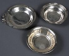 THREE STERLING SILVER BOWLS - One bowl (7