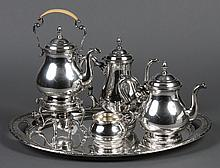 INTERNATIONAL STERLING 5-PIECE BEVERAGE SET - Marked