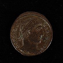 ANCIENT ROMAN BRONZE COIN - Constantine II - Roman Emperor, 337-340 AD