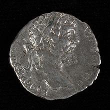 ANCIENT ROMAN SILVER COIN - Septimus Severus Denarius 194 AD; L SEPT SEV PERT AVG IIII. Laureate head right / SECVRITAS PVBLICA. Sec...