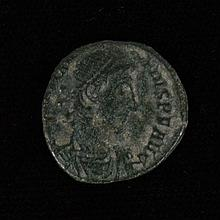ANCIENT BRONZE ROMAN COIN - Constantius II Roman Emperor; 337 -361 AD. Struck at the mint of Siscia. Diademed, draped and cuirassed...